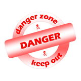 Danger stamp Royalty Free Stock Photo