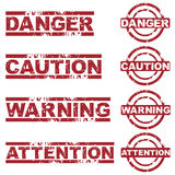 Danger stamps Royalty Free Stock Photography