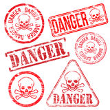 Danger Stamps Royalty Free Stock Image