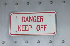 Danger on Steel Royalty Free Stock Images
