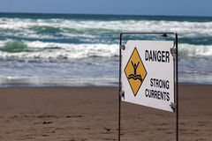 Danger - strong currents Royalty Free Stock Images