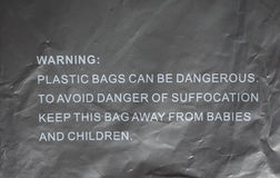 Danger of suffocation warning sign Royalty Free Stock Photography