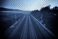 Danger sur le chemin de fer Photographie stock