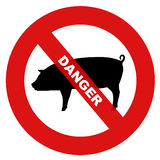 Danger swine flu Stock Image