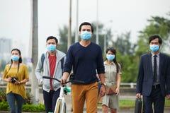 Danger of swine flu epidemic Royalty Free Stock Photo