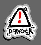 Danger symbol. Creative design of danger symbol Stock Images