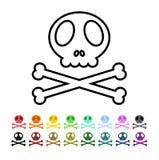 Danger symbol. Some illustration of skulls & bones on a white background, depicting danger Royalty Free Stock Photo