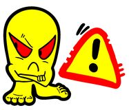 Danger symbol design Stock Image