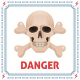 Danger symbol with skull and crossbones Royalty Free Stock Photos