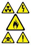Danger symbols Stock Photo