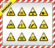 Danger symbols. Icon, button colletction Royalty Free Stock Images
