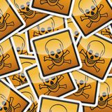 Danger symbols icon. Danger, hazard sign, icon collection with shadow on white background Royalty Free Stock Images