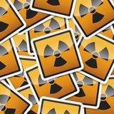 Danger symbols icon. Danger, hazard sign, icon collection with shadow on white background Royalty Free Stock Image