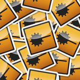 Danger symbols icon. Danger, hazard sign, icon collection with shadow on white background Royalty Free Stock Photography