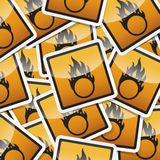 Danger symbols icon. Danger, hazard sign, icon collection with shadow on white background Stock Photography