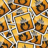 Danger symbols icon Stock Photos