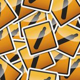 Danger symbols icon. Danger, hazard sign, icon collection with shadow on white background Stock Photos