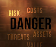 Danger Tags Stock Photography