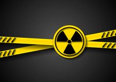 Danger tape abstract background with radiation Royalty Free Stock Photos