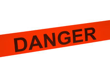 Danger Tape Close Up stock photography