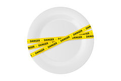 Danger Tape on Plate Royalty Free Stock Image