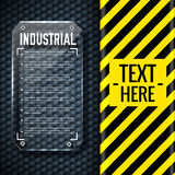 Danger tech abstract background concept. Vector Royalty Free Stock Photography