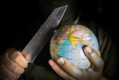 Danger terrorist for the world. Danger terrorist for the world,crime and terror concept Stock Photos