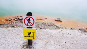 Danger in thermal area Royalty Free Stock Photography