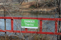 Danger Thin Ice Royalty Free Stock Image