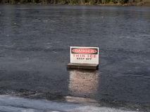 Danger, Thin Ice Royalty Free Stock Photos