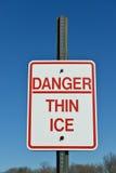 Danger thin ice Stock Photos