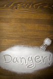 Danger of too much salt � Health Hazard Royalty Free Stock Image