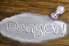 Danger of too much salt – Health Hazard Royalty Free Stock Images