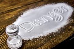 Danger of too much salt – Health Hazard Stock Image