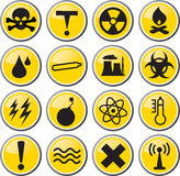 Danger toxic hazard icon illustration Royalty Free Stock Photos