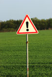 Danger traffic sign Stock Photo