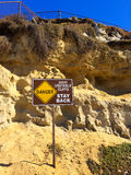 Danger Unstable Cliffs Royalty Free Stock Photos