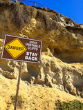 Danger Unstable Cliffs Royalty Free Stock Photography