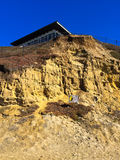 Danger Unstable Cliffs Stock Images