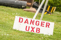 Danger uxb Royalty Free Stock Photos
