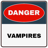 Danger Vampires. Danger Sign. Vector Royalty Free Stock Photography