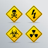 Danger vector warning sign Stock Photo