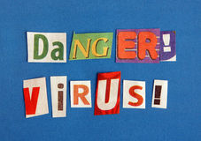 Danger virus warning sign Royalty Free Stock Image