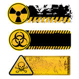 Danger warning. Nuclear,bio hazard,toxic substance Royalty Free Stock Photo