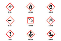 Danger, warning, attention clp icon Stock Image