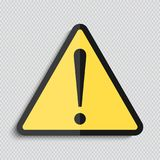 Danger warning attention hazard sign. Vector illustration Royalty Free Stock Photography