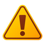 Danger warning attention sign icon Stock Photography