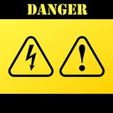 Danger-warning-attention signs. Vector illustration. Danger-warning-attention sign. Vector Stock Photos