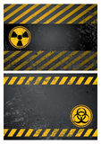 danger warning background Stock Images