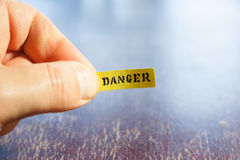 Danger warning concept Royalty Free Stock Photo